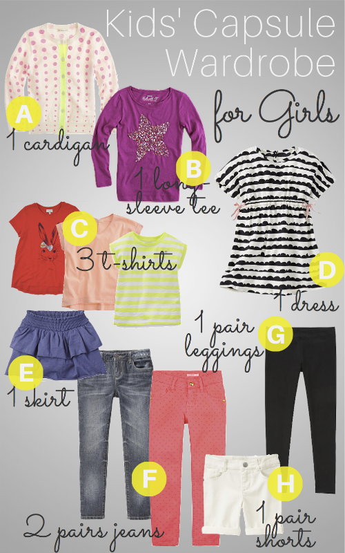 How To Build a Capsule Wardrobe for Girls | Help! We've Got Kids