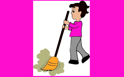 Girl Sweeping