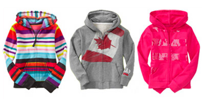 Early fall temperatures are always hard to anticipate, so it's best to be prepared for anything. With hoodies on hand for easy layering, the kids can play