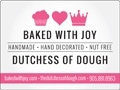 Dutchess of Dough-Baked with Joy, Toronto & the GTA