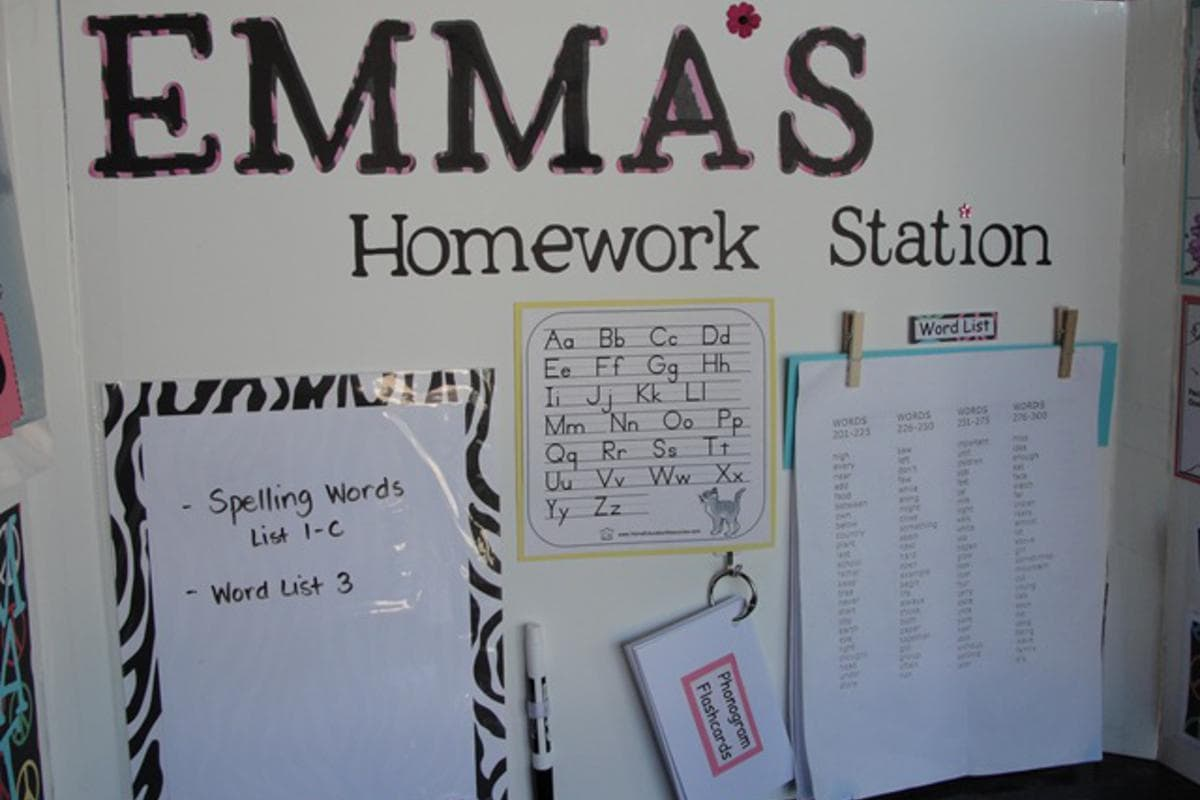 Article: 8 DIY Homework Station Ideas