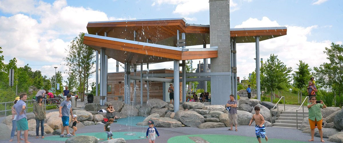 Corktown Common splash pad