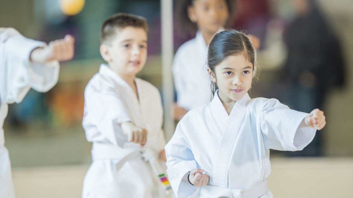 Kids in karate class