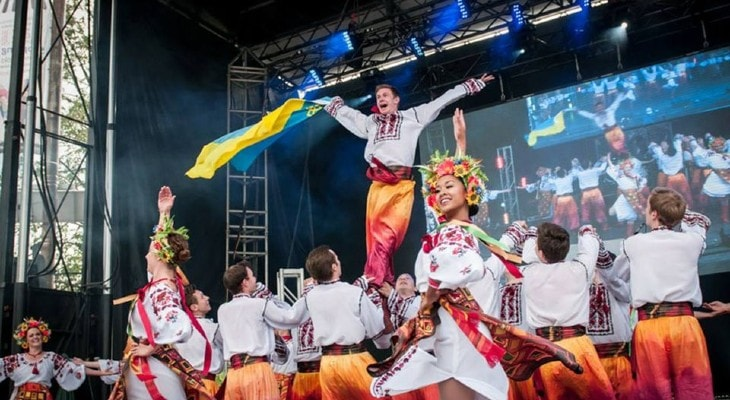 Ukranian dancing performance