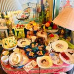 Unique vintage plates, bowls, tea, cups, trays can be set out for you and your guests.
