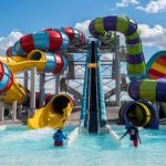 Up to five people at a time can ride the Krazy Kanuck adventure slide.