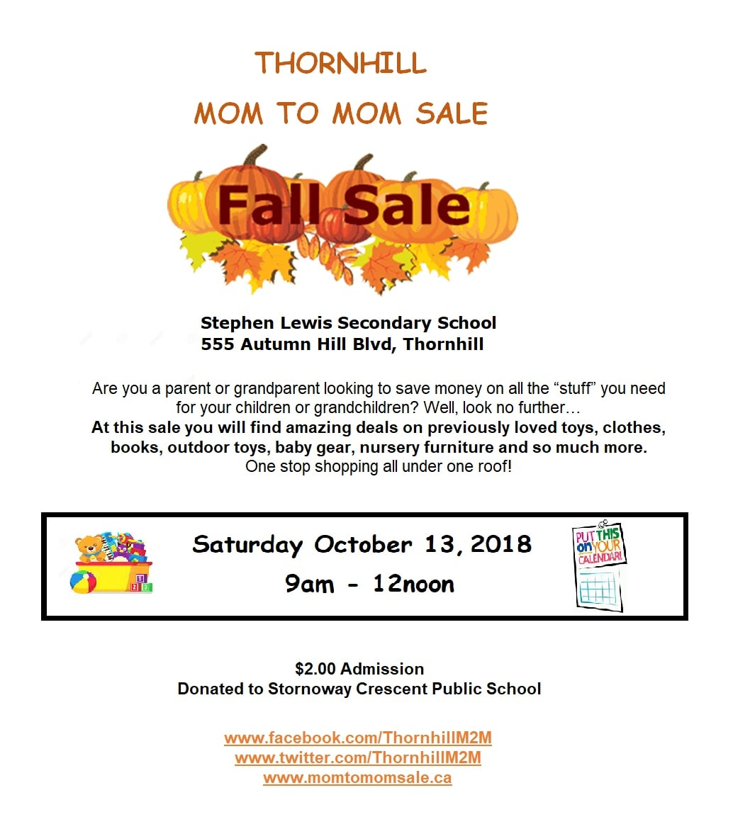 Thornhill fall mom to mom sale