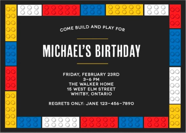 Basic Invite kids' party invitations
