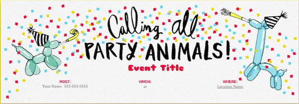 Evite kids' birthday party invitations