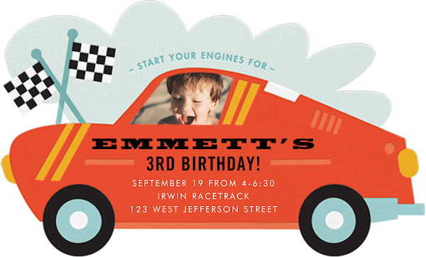 Paperless Post kids' birthday party invitations