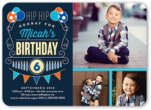 Shutterfly kids' party invitations