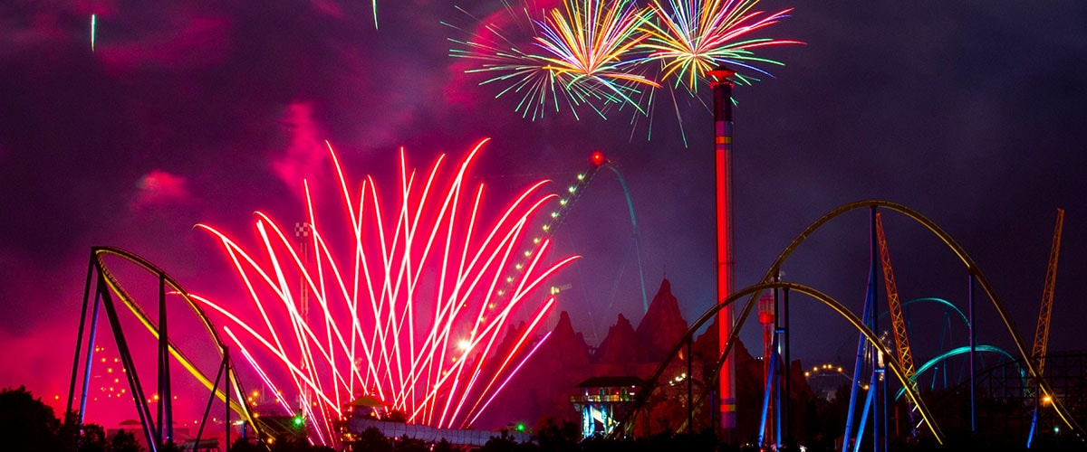 Canada's Wonderland hosts the GTA's largest Victoria Day fireworks show.