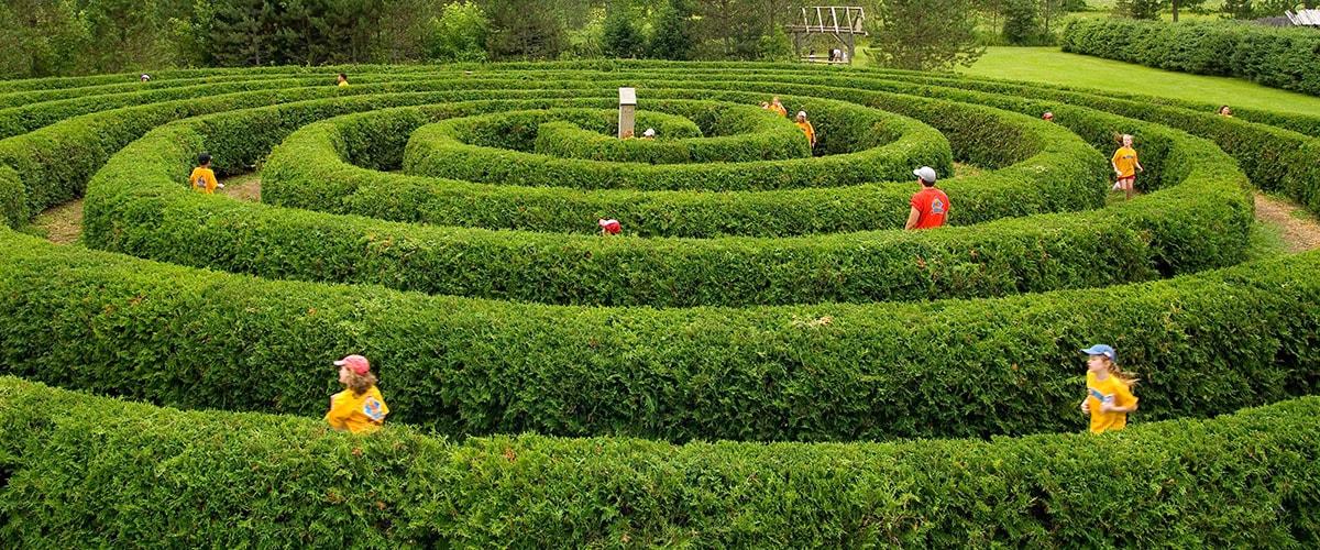Saunders Farm maze near Ottawa