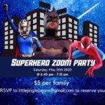 Event: Superhero Zoom Party