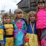 kids in Halloween costumes at Black Creek Pioneer Village